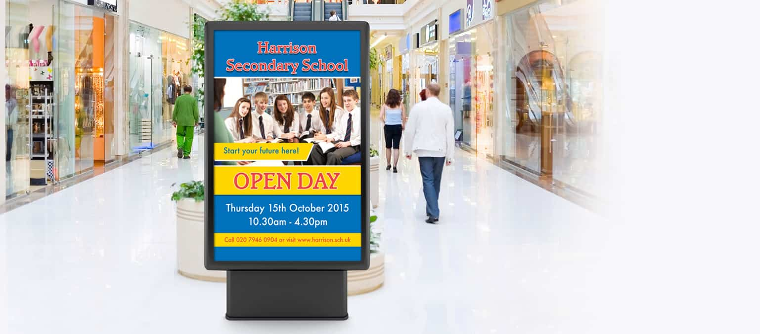 shopping centre advertising for schools and colleges header banner image 2