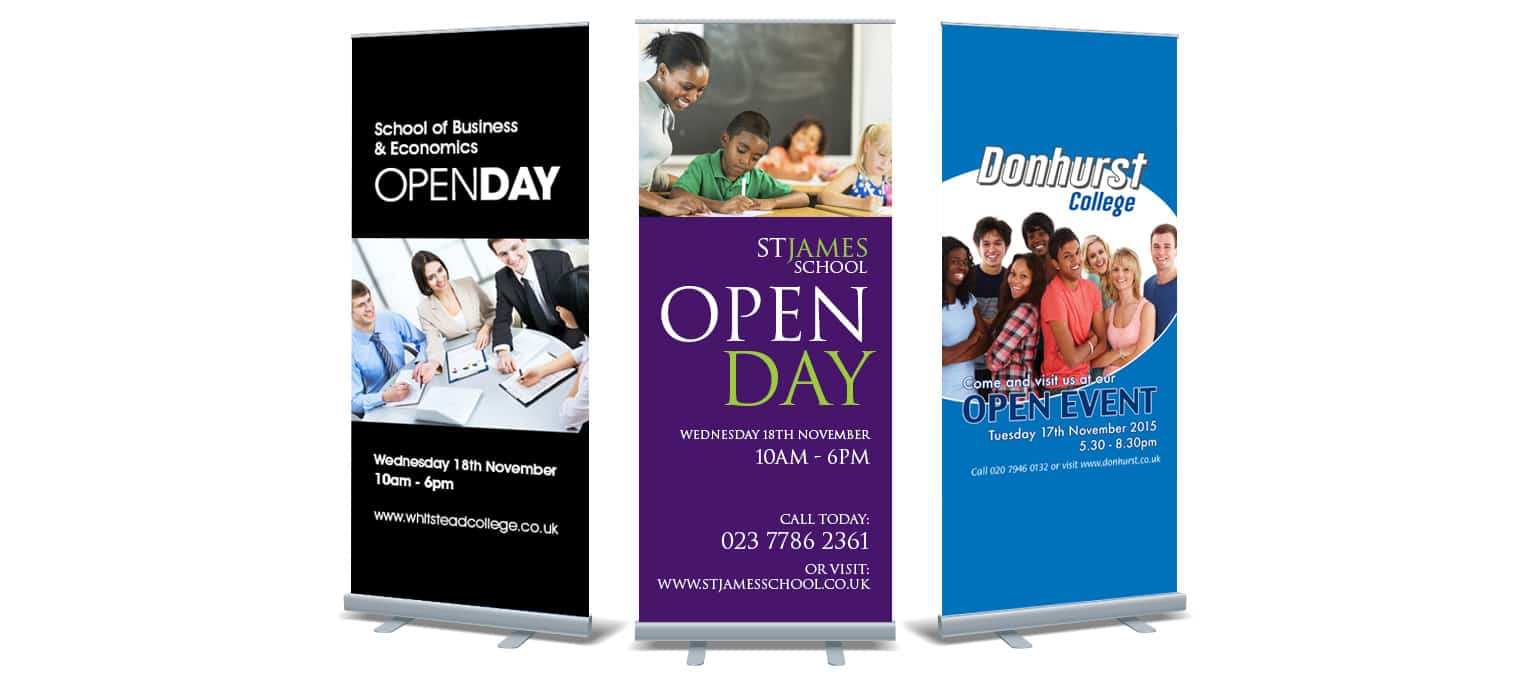roller banner advertising for schools