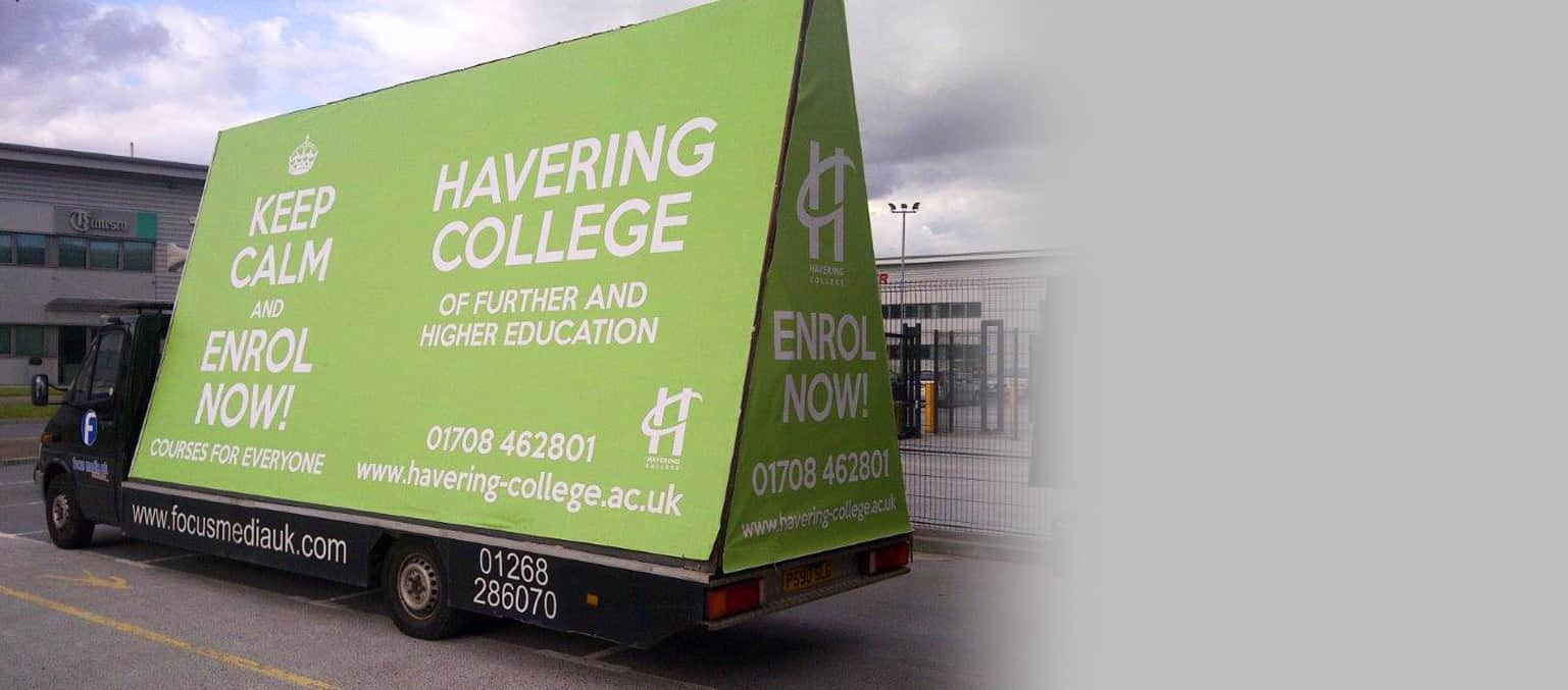 Mobile Vehicle Advertising for schools and colleges header image 1