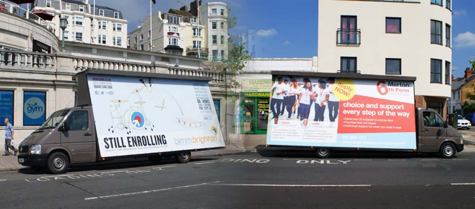 Mobile Vehicle Advertising for schools and colleges middle page image 1