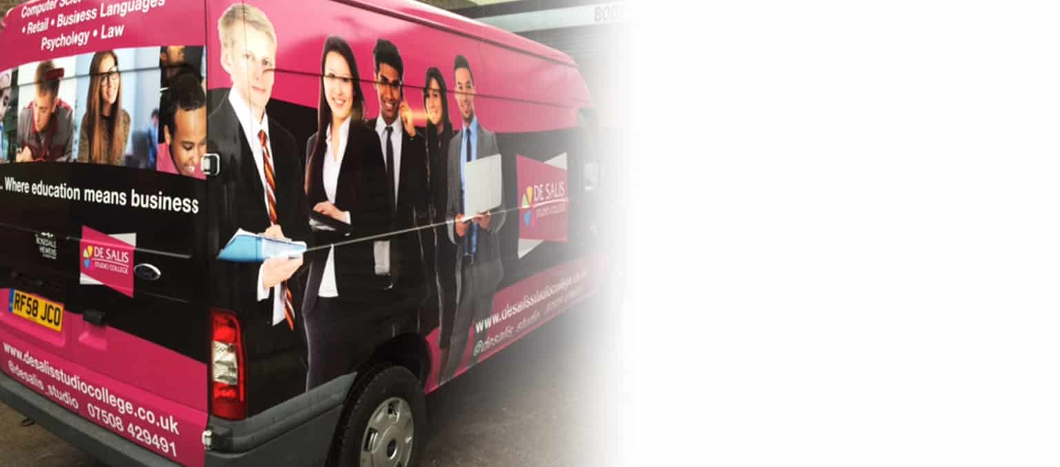 van wrap advertising header image 1